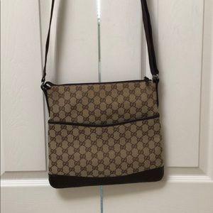 Authentic Gucci monogram crossbody purse
